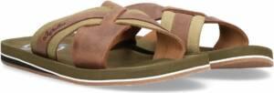 Australian Footwear Heren Slippers Haamstede at sea Brown Leather - Bruin - maat 46