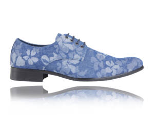 Jeans Flower - Lureaux - Handgemaakte Nette Schoenen Voor Heren